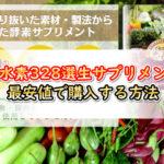 酵水素328選生サプリメントを最安値で購入する方法